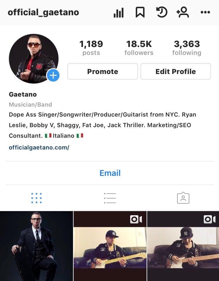 gaetano instagram